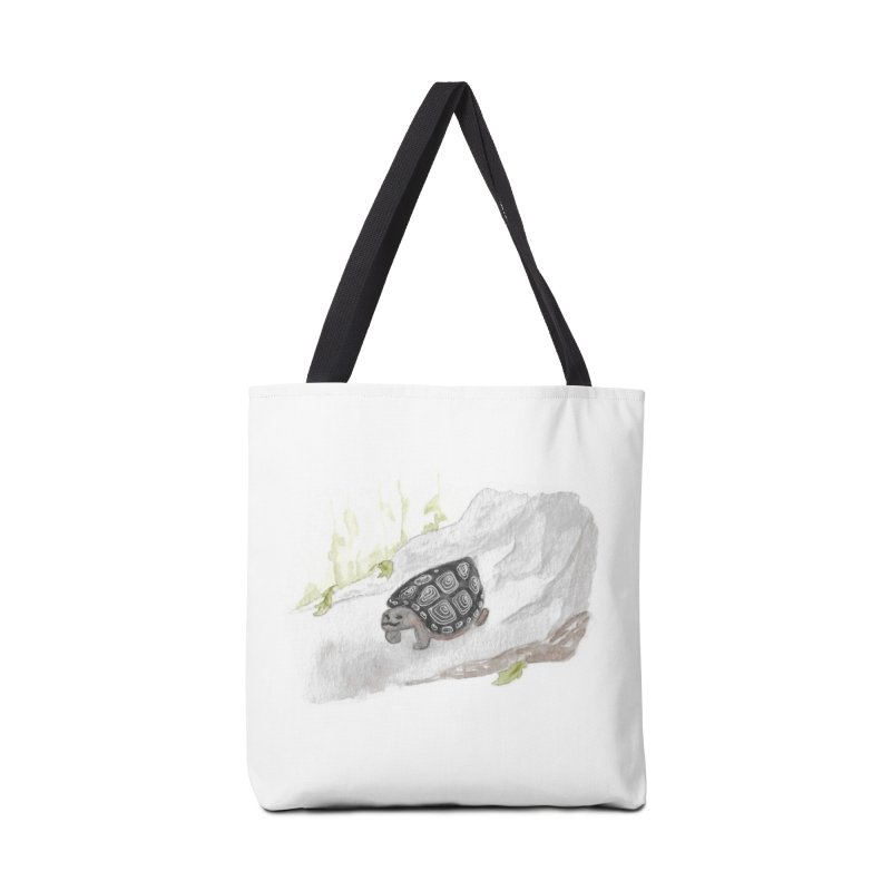 Watercolor Forest Wood Turtle Accessories Tote Bag Bag by The Wilderness Store