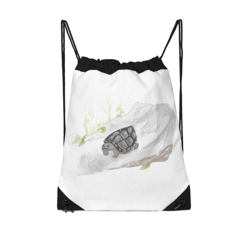Watercolor Forest Wood Turtle Accessories Drawstring Bag Bag by The Wilderness Store