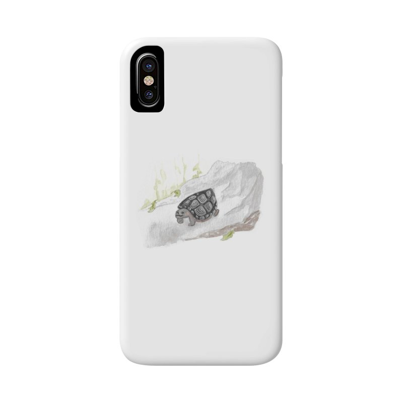 Watercolor Forest Wood Turtle Accessories Phone Case by The Wilderness Store