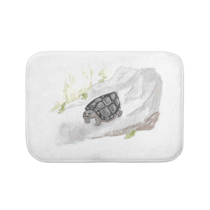 Watercolor Forest Wood Turtle Home Bath Mat by The Wilderness Store