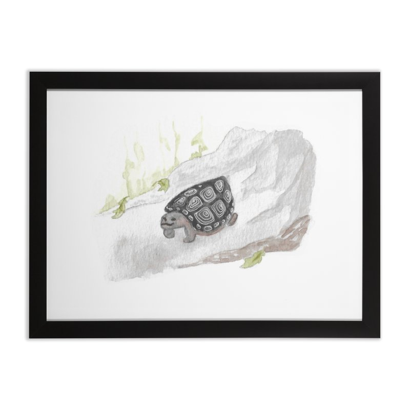 Watercolor Forest Wood Turtle Home Framed Fine Art Print by The Wilderness Store