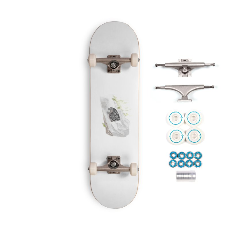Watercolor Forest Wood Turtle Accessories Complete - Basic Skateboard by The Wilderness Store