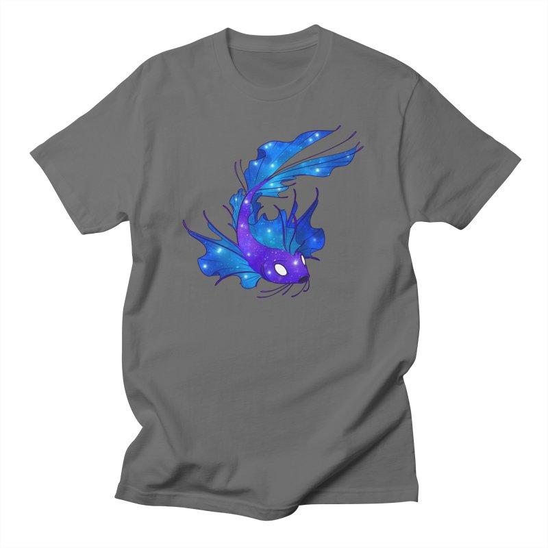 Space Koi Men's T-Shirt by Wild's Designs