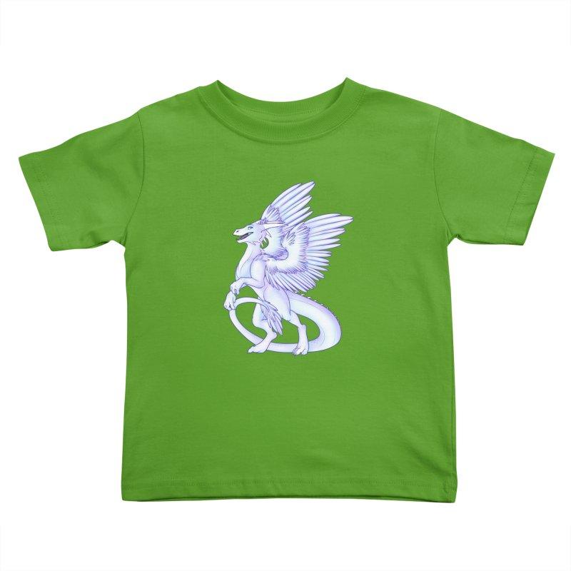 White Dragon Kids Toddler T-Shirt by Wild's Designs