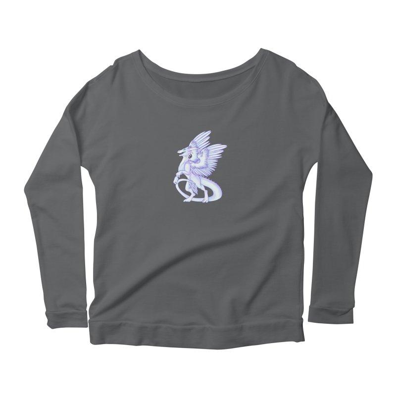 White Dragon Women's Longsleeve T-Shirt by Wild's Designs