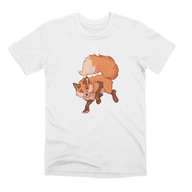 Painted Fox Men's T-Shirt by Wild's Designs