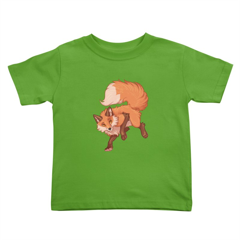 Painted Fox Kids Toddler T-Shirt by Wild's Designs