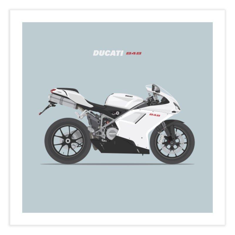Ducati 848 Home Fine Art Print by Willard's illustration shop
