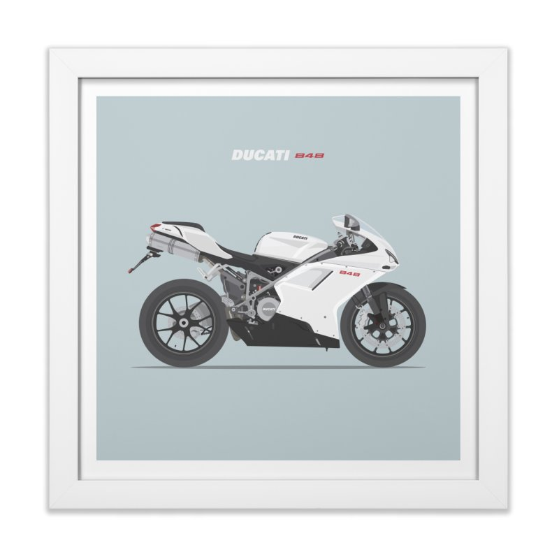 Ducati 848 Home Framed Fine Art Print by Willard's illustration shop