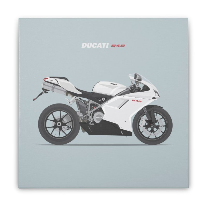 Ducati 848 Home Stretched Canvas by Willard's illustration shop