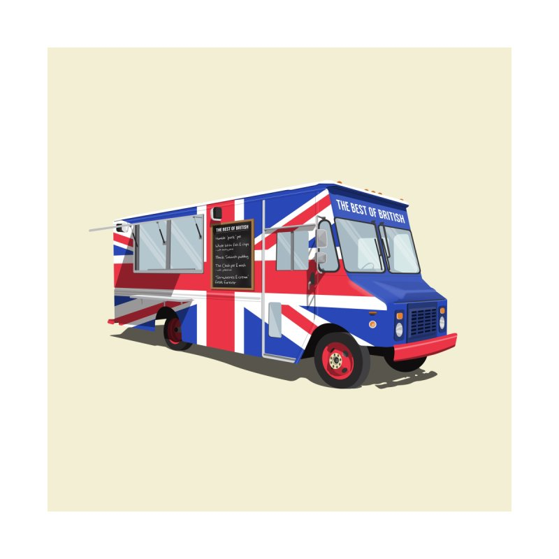 Best of British Food Truck Home Framed Fine Art Print by Willard's illustration shop