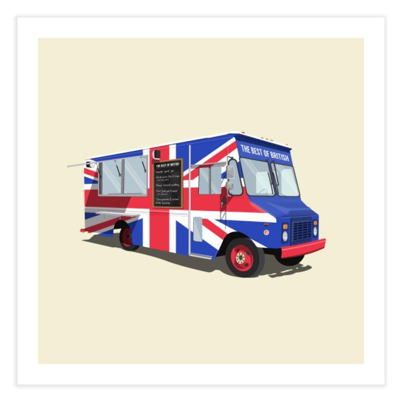 Best of British Food Truck Home Fine Art Print by Willard's illustration shop
