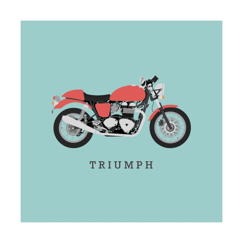Triumph Thruxton Home Fine Art Print by Willard's illustration shop