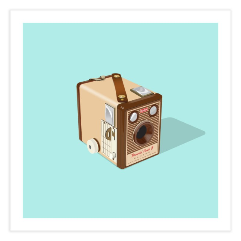 Kodak 'Flash B' Box Brownie Home Fine Art Print by Willard's illustration shop