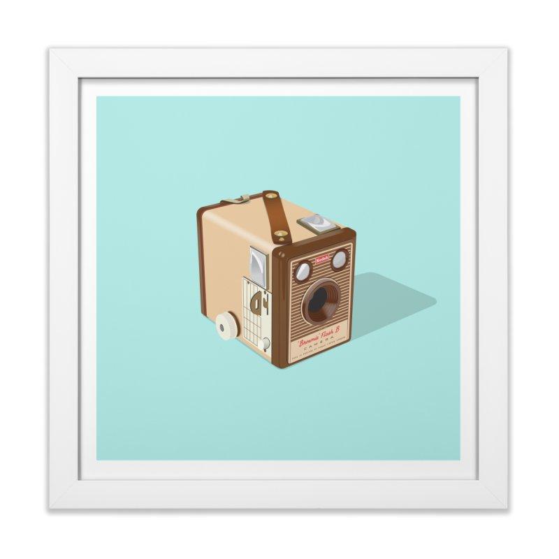 Kodak 'Flash B' Box Brownie Home Framed Fine Art Print by Willard's illustration shop