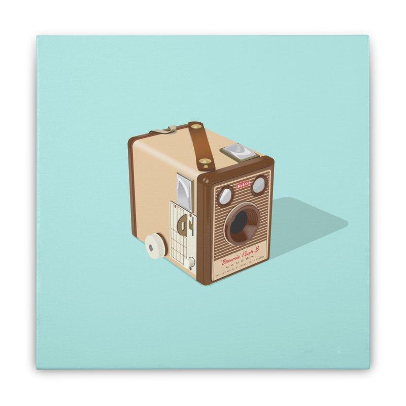 Kodak 'Flash B' Box Brownie Home Stretched Canvas by Willard's illustration shop