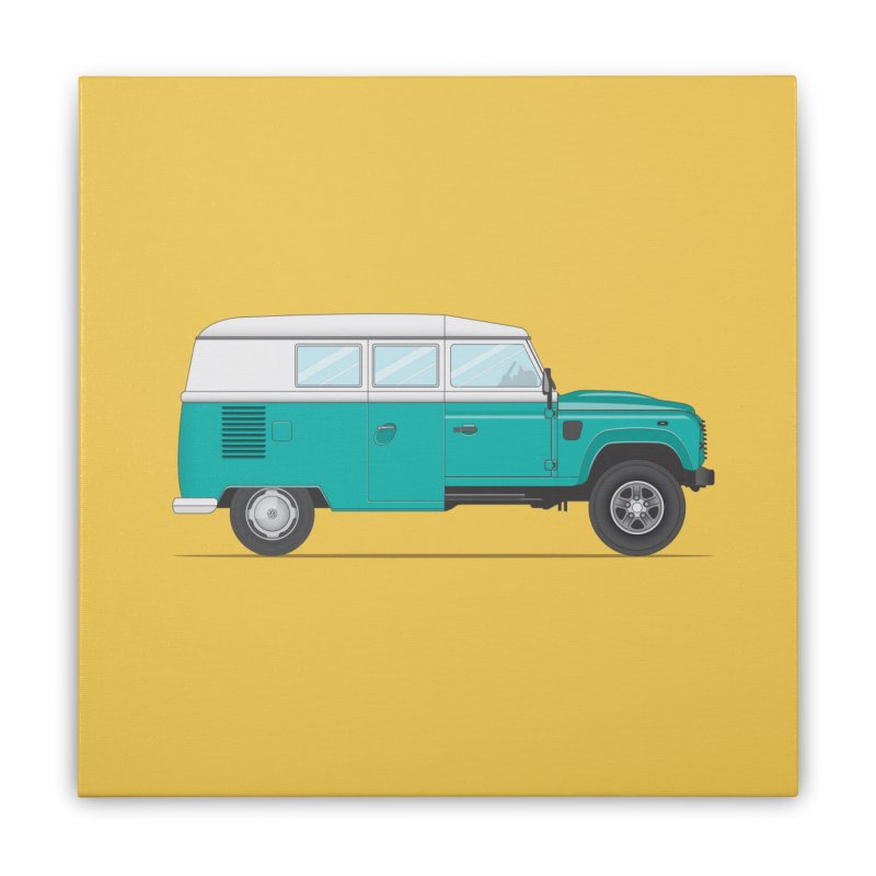 Kom-fender Home Stretched Canvas by Willard's illustration shop