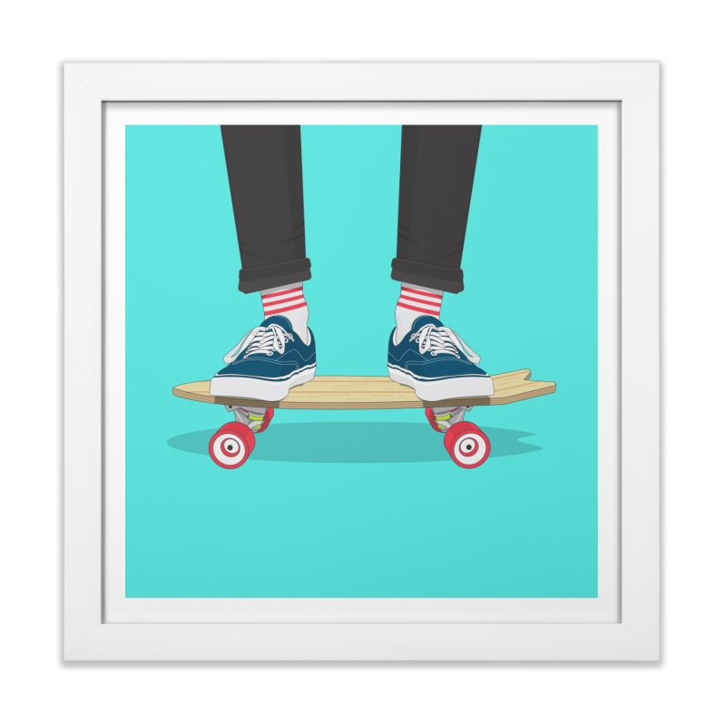 Retro Skate Home Framed Fine Art Print by Willard's illustration shop