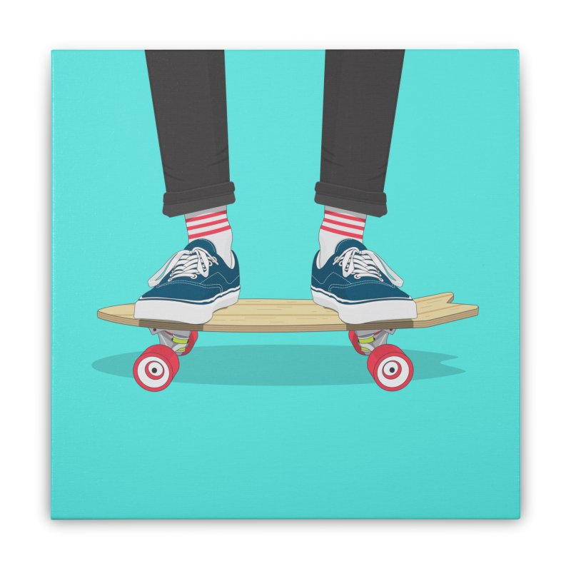 Retro Skate Home Stretched Canvas by Willard's illustration shop
