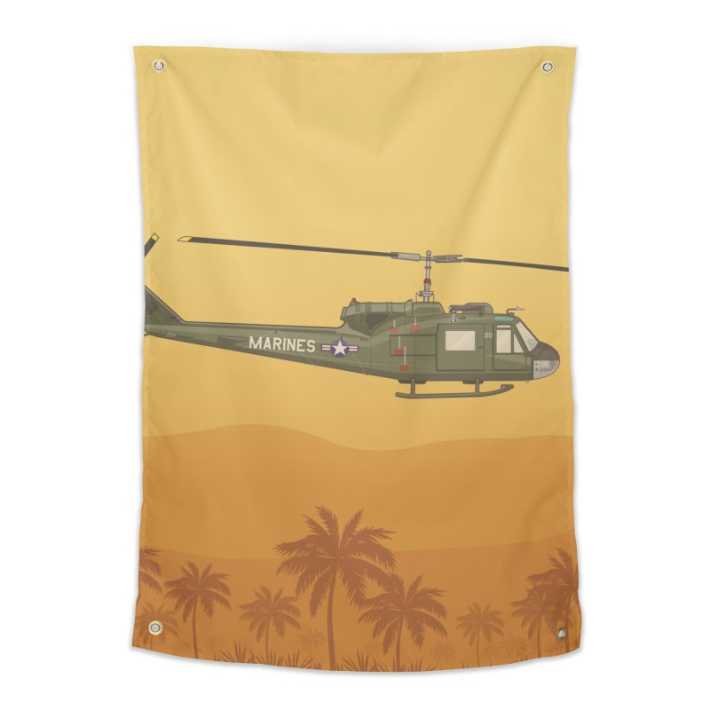 Huey Chopper Home Tapestry by Willard's illustration shop