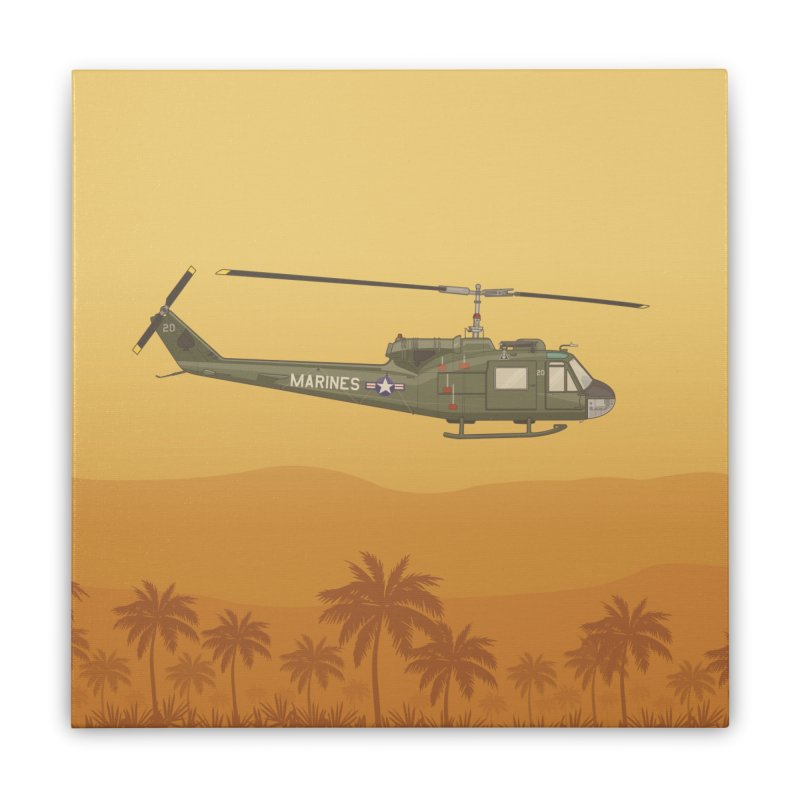 Huey Chopper Home Stretched Canvas by Willard's illustration shop