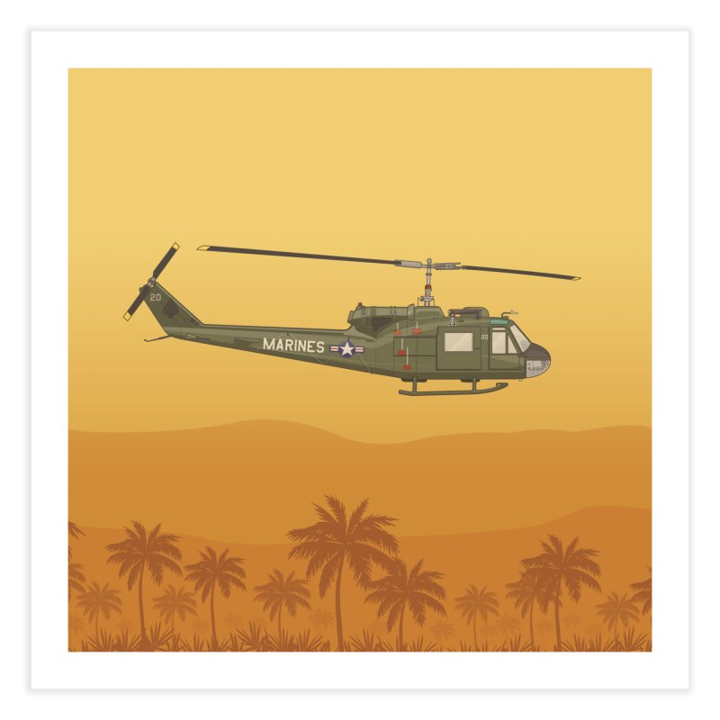 Huey Chopper Home Fine Art Print by Willard's illustration shop