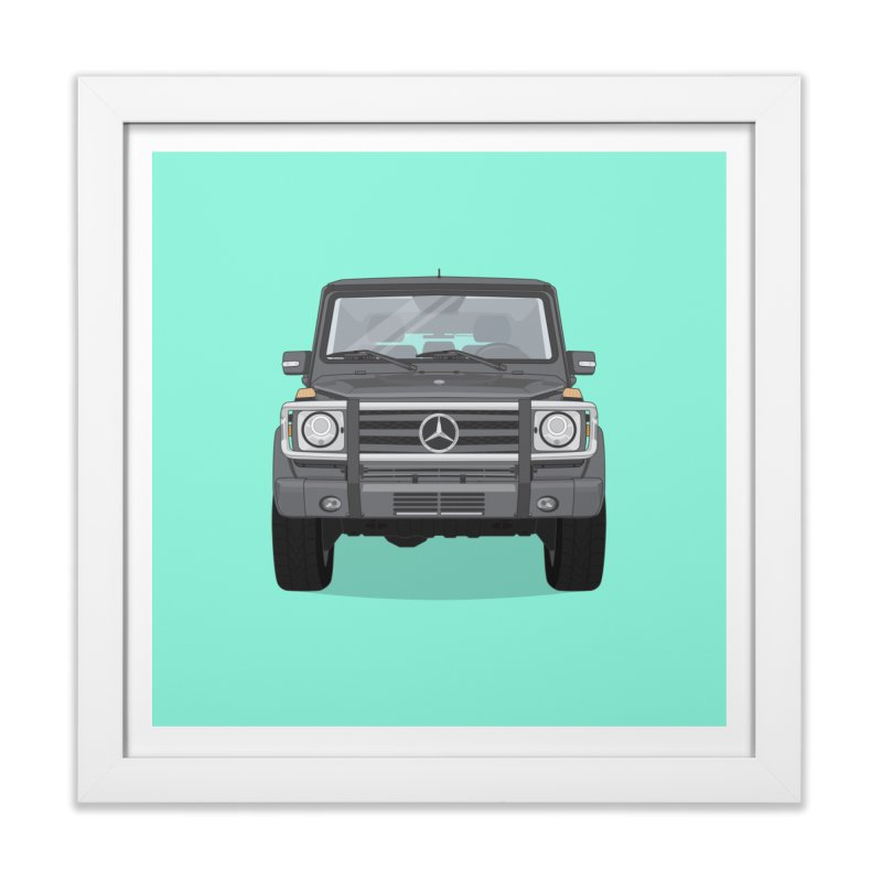 Mercedes AMG G Class 4x4 Home Framed Fine Art Print by Willard's illustration shop