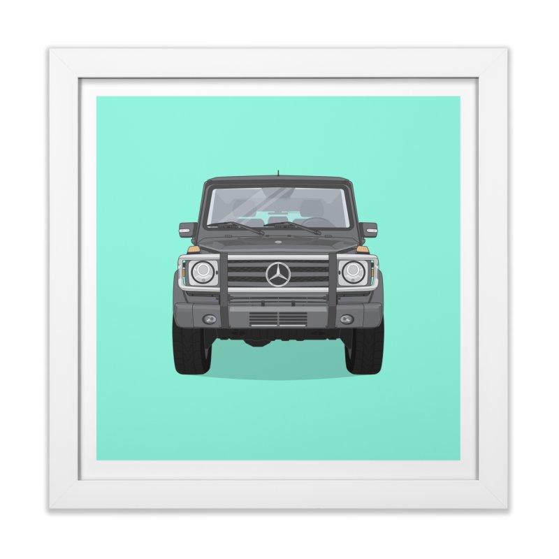 Mercedes AMG G Class 4x4 Home Framed Fine Art Print by Willard's illustration shop