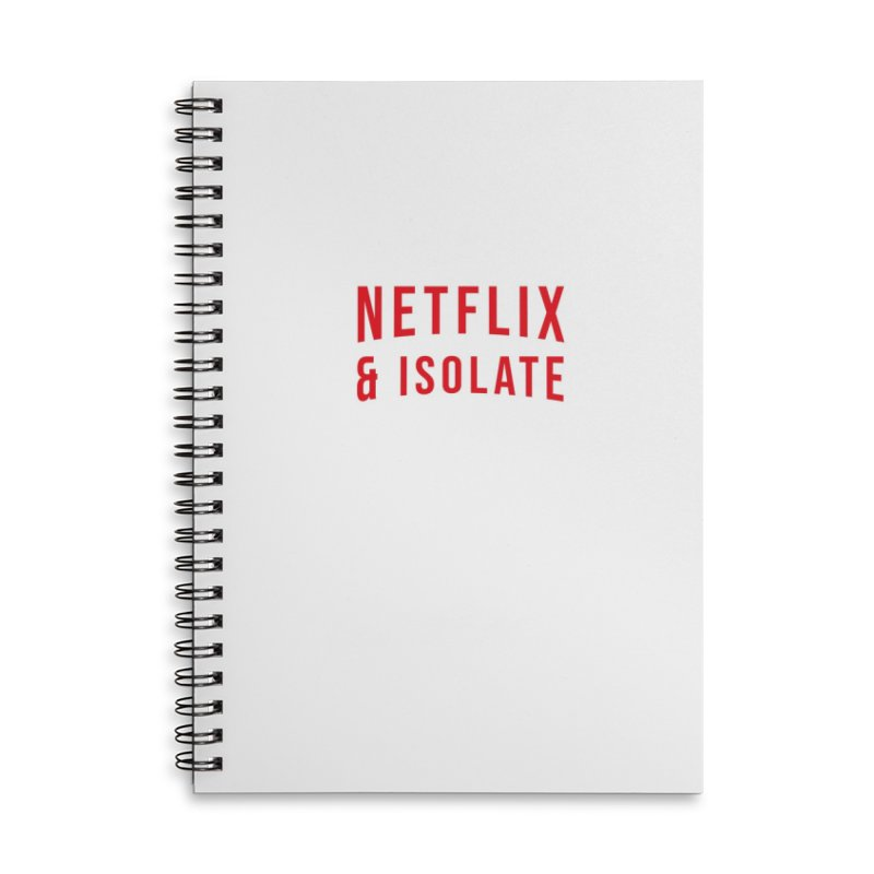 Netflix & Isolate Accessories Lined Spiral Notebook by Willard's illustration shop
