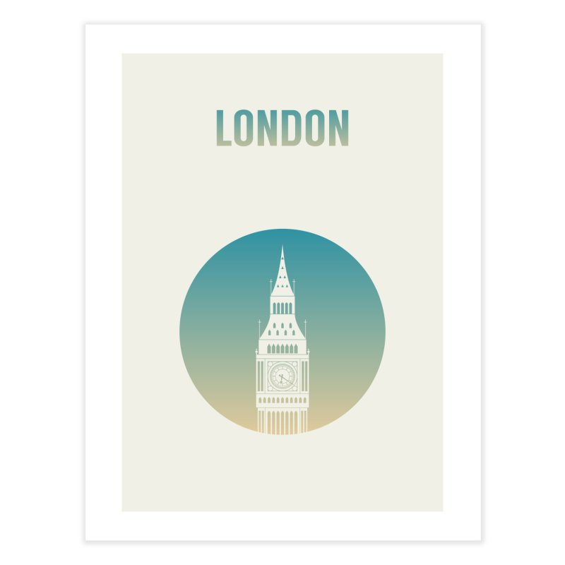 London Home Fine Art Print by Willard's illustration shop