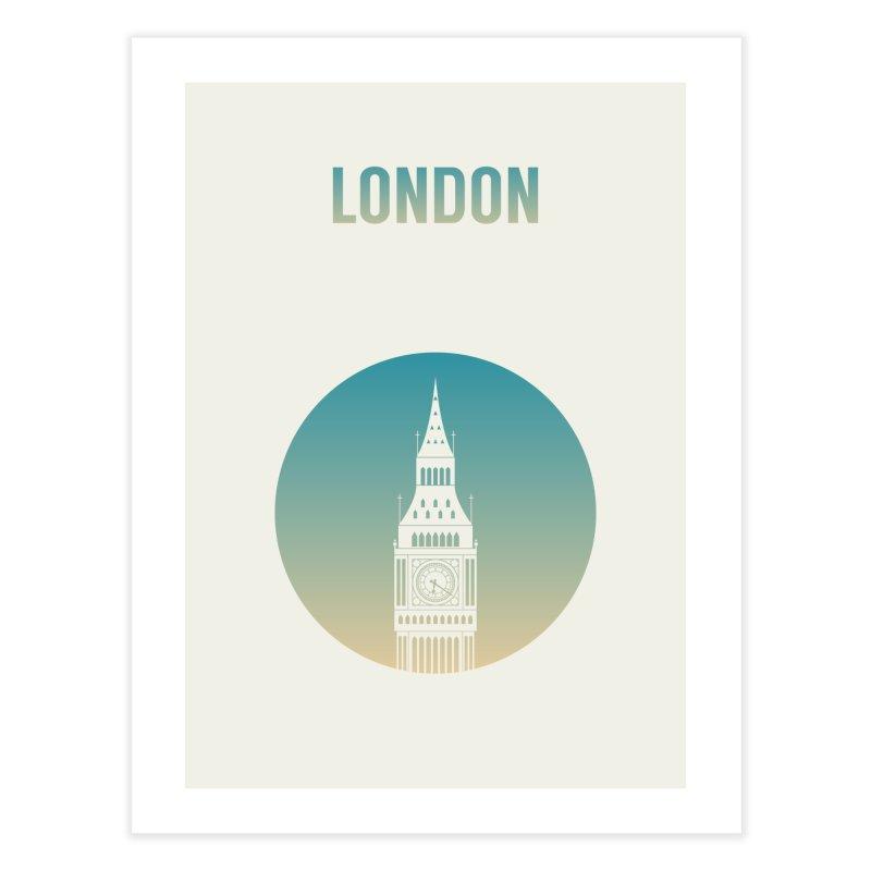 London Home Fine Art Print by Willard's illustration shop