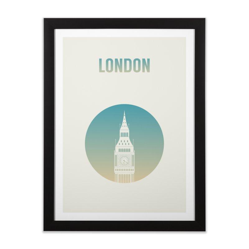London Home Framed Fine Art Print by Willard's illustration shop