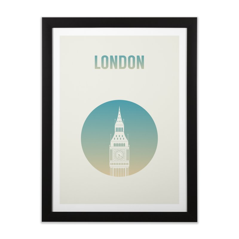 London Home Framed Fine Art Print by Willard's illustration shop