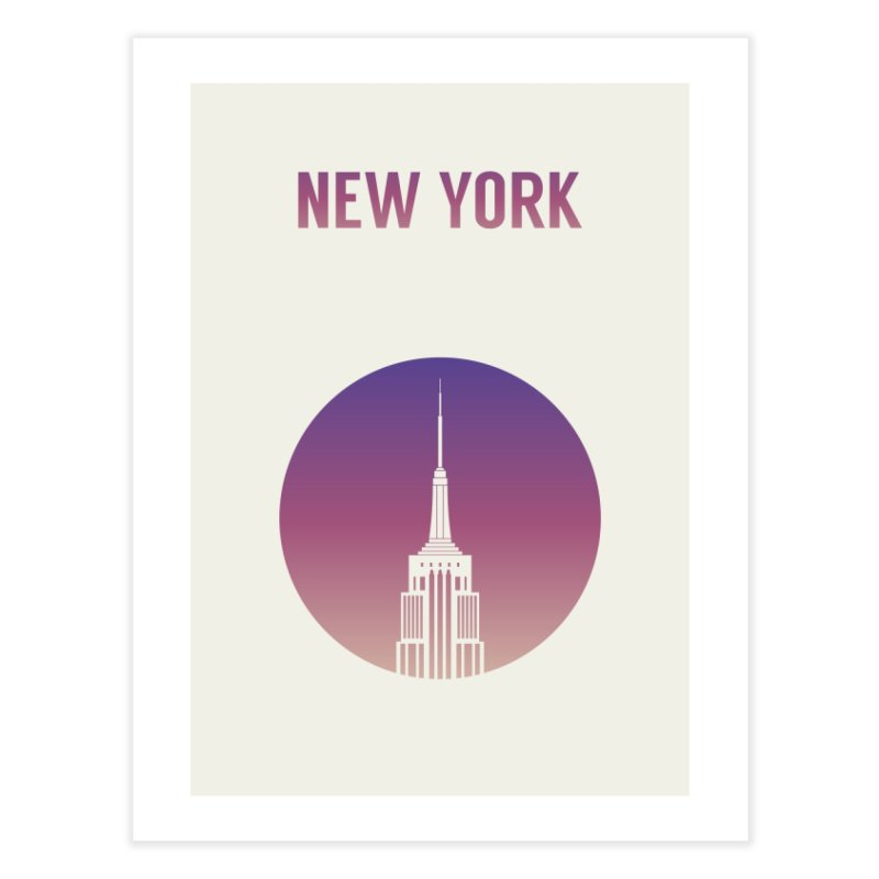 New York Home Fine Art Print by Willard's illustration shop