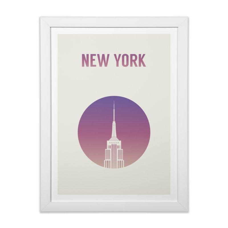 New York Home Framed Fine Art Print by Willard's illustration shop