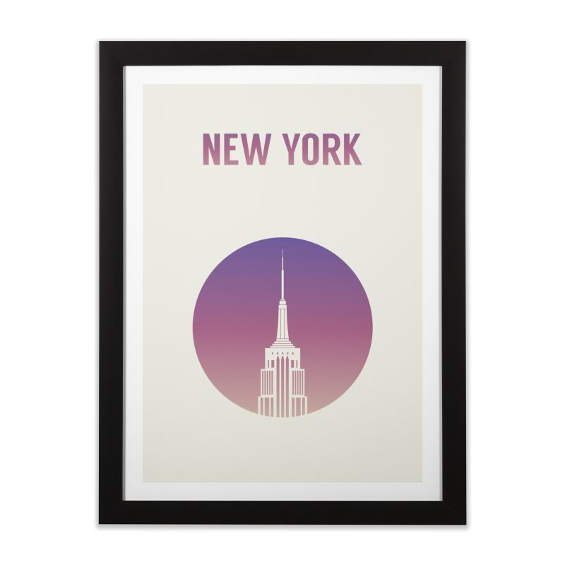 New York Home Framed Fine Art Print by Willard's illustration shop