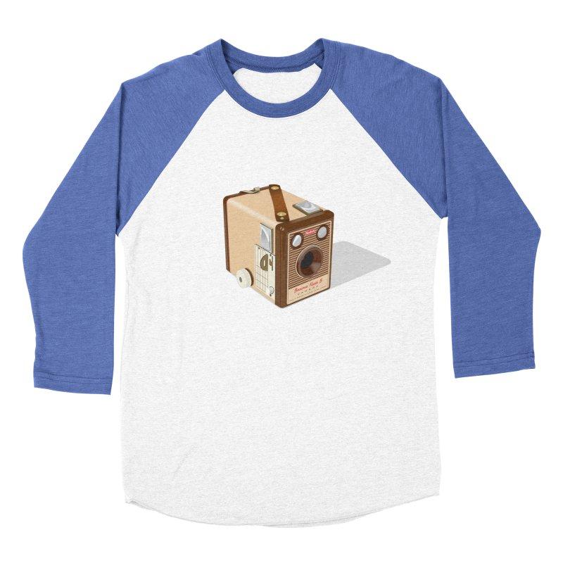 1960 'Flash B' Box Brownie camera Men's Baseball Triblend Longsleeve T-Shirt by Willard's illustration shop