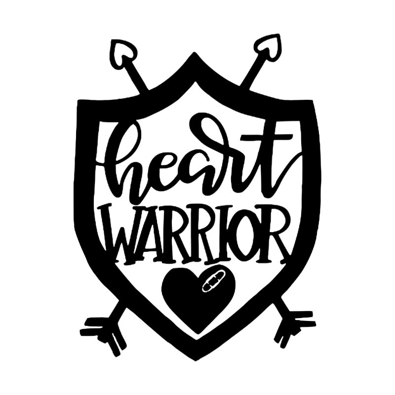 Heart Warrior Shield (Black) Men's Tank by With Hope and Grace