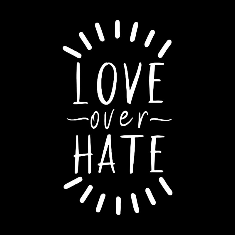 Love over Hate (white) Men's Tank by With Hope and Grace