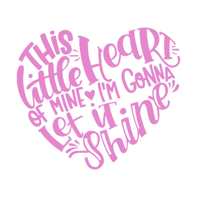 This Little Heart of Mine Pink | CHD Shirt Kids T-Shirt by With Hope and Grace