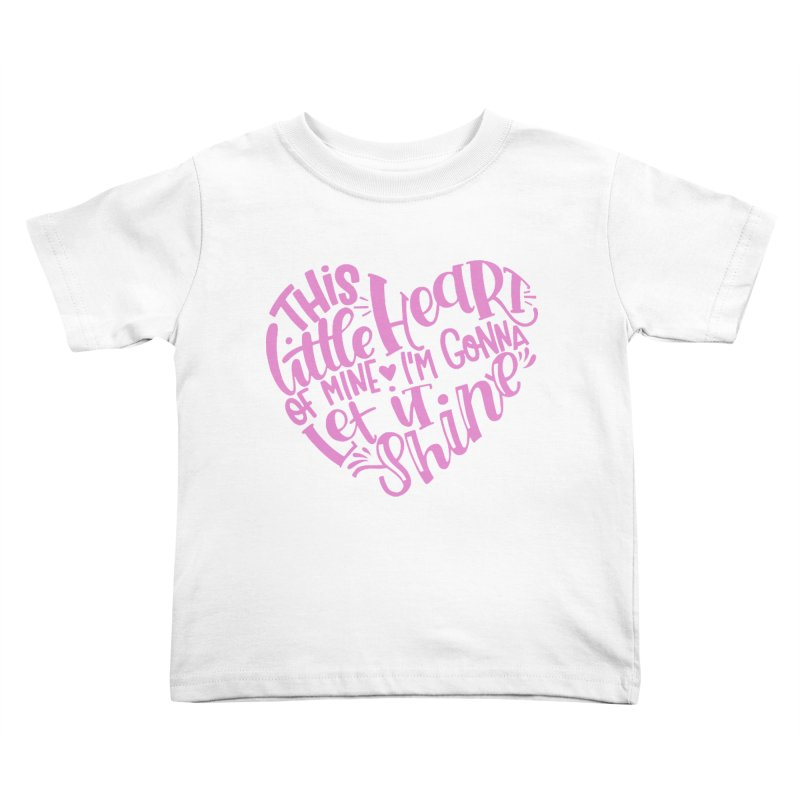 This Little Heart of Mine Pink | CHD Shirt Kids Toddler T-Shirt by With Hope and Grace