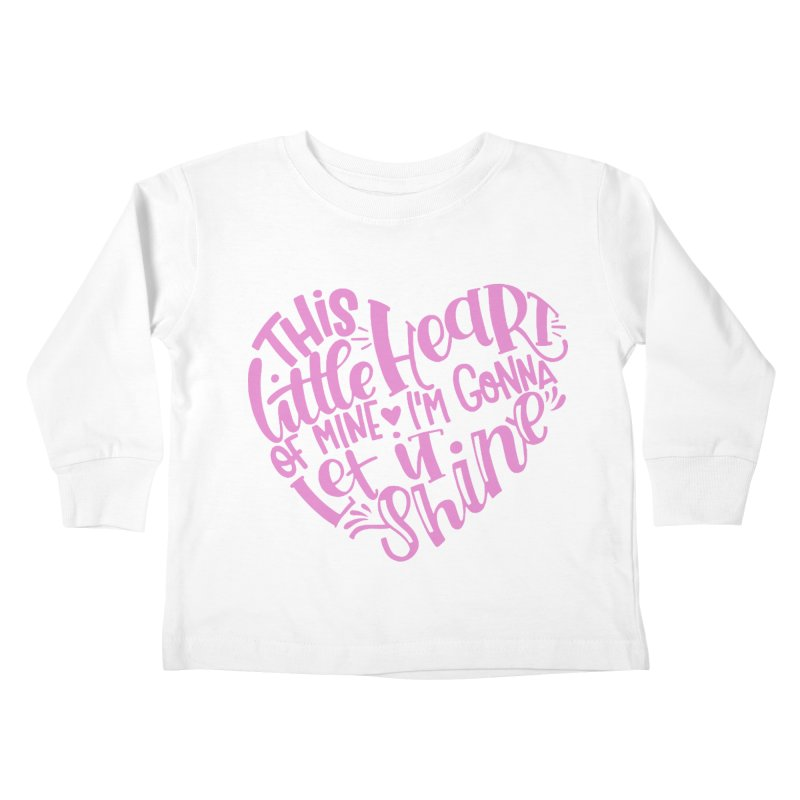 This Little Heart of Mine Pink | CHD Shirt Kids Toddler Longsleeve T-Shirt by With Hope and Grace