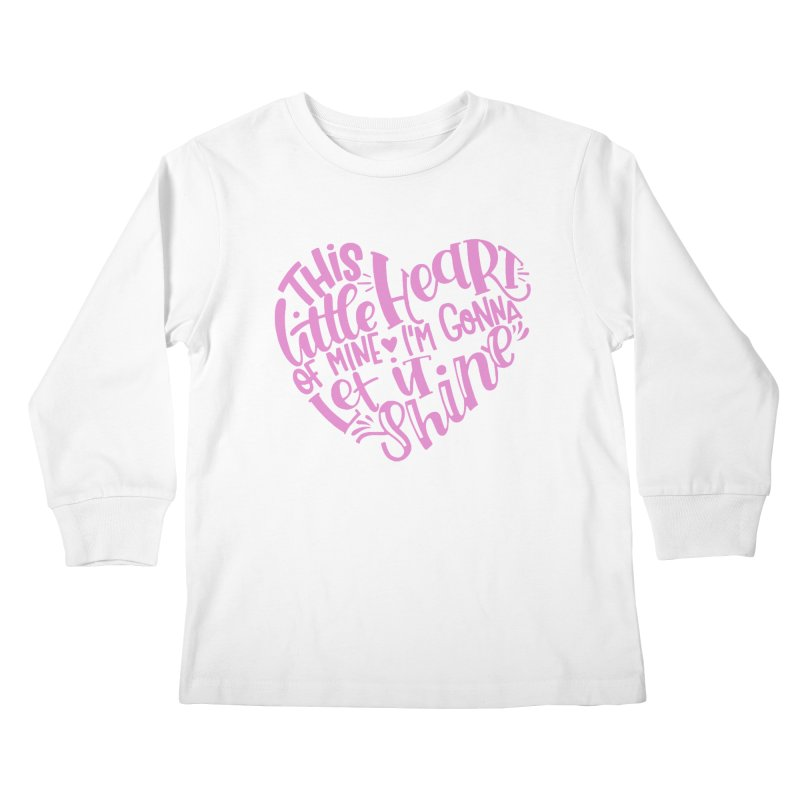 This Little Heart of Mine Pink | CHD Shirt Kids Longsleeve T-Shirt by With Hope and Grace