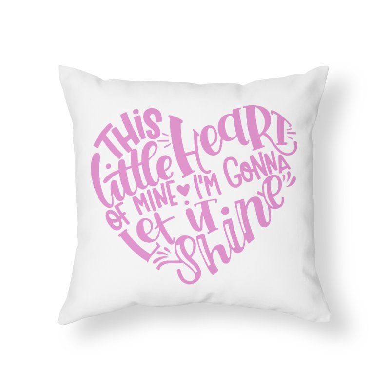 This Little Heart of Mine Pink | CHD Shirt Home Throw Pillow by With Hope and Grace
