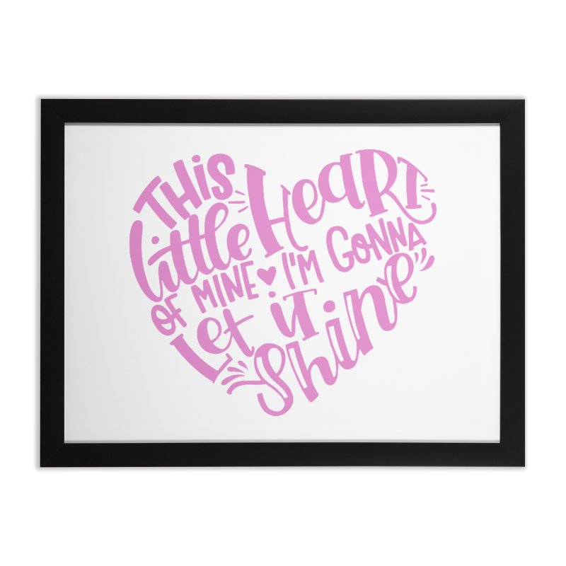 This Little Heart of Mine Pink | CHD Shirt Home Framed Fine Art Print by With Hope and Grace