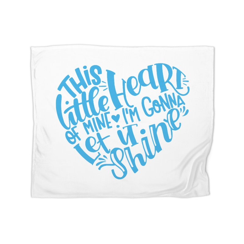 This Little Heart of Mine Blue   Heart Shirt   CHD Art Home Blanket by With Hope and Grace