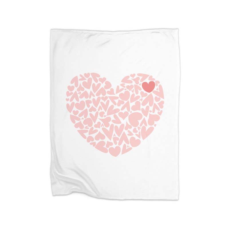 100 Hearts Pink Shirt | CHD Awareness | CHD Art Shirt Home Blanket by With Hope and Grace