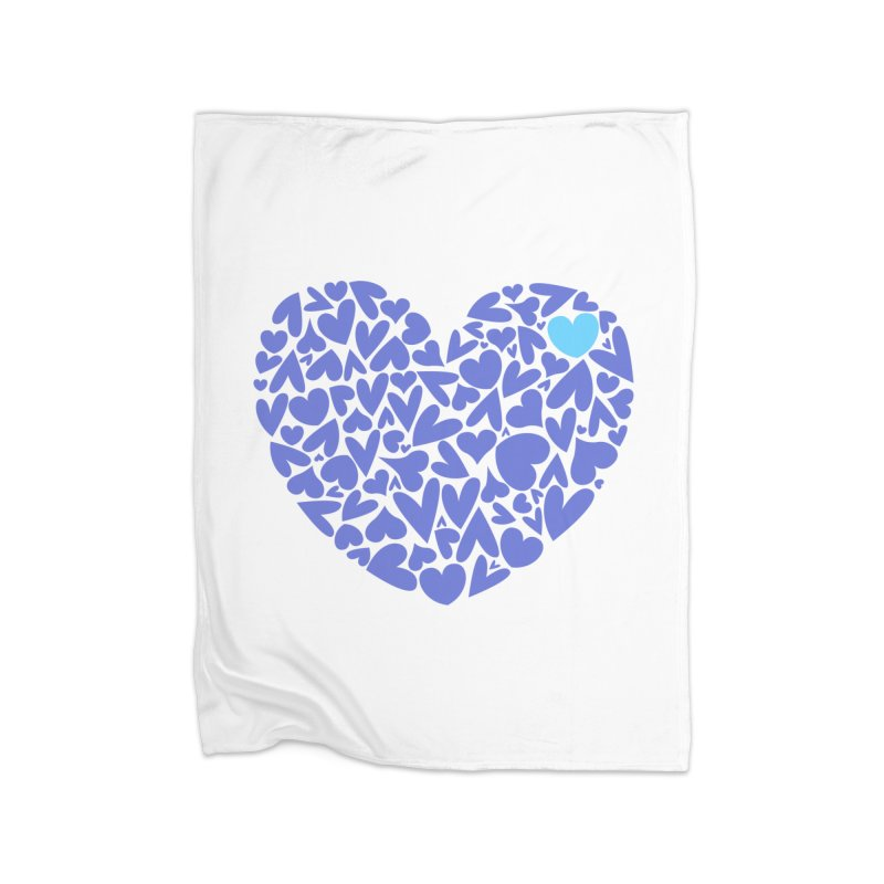 100 Hearts Blue | CHD Hearts Shirt Home Blanket by With Hope and Grace