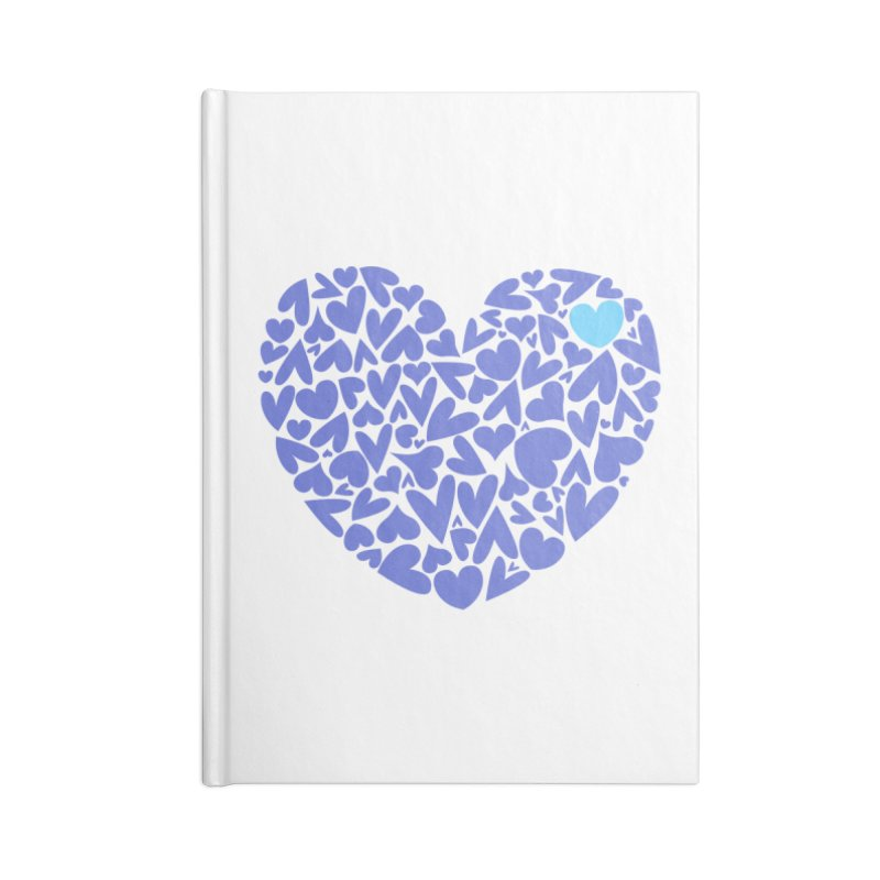 100 Hearts Blue   CHD Hearts Shirt Accessories Notebook by With Hope and Grace
