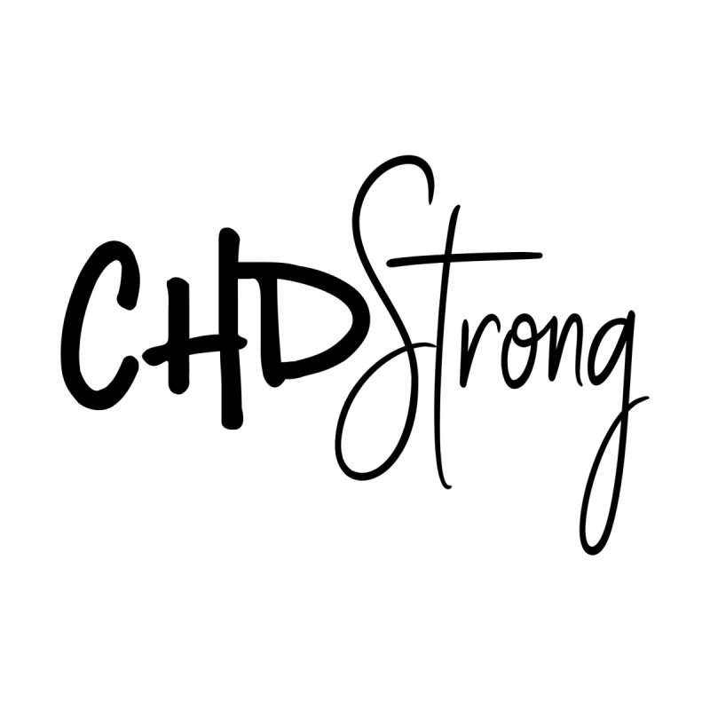 CHD Strong (Black) Home Blanket by With Hope and Grace